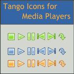 Tango Mediaplayer Action Icons
