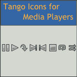 Dark Tango Media Player Icons