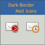 Dark-Border Tango Mail Icons by DarKobra