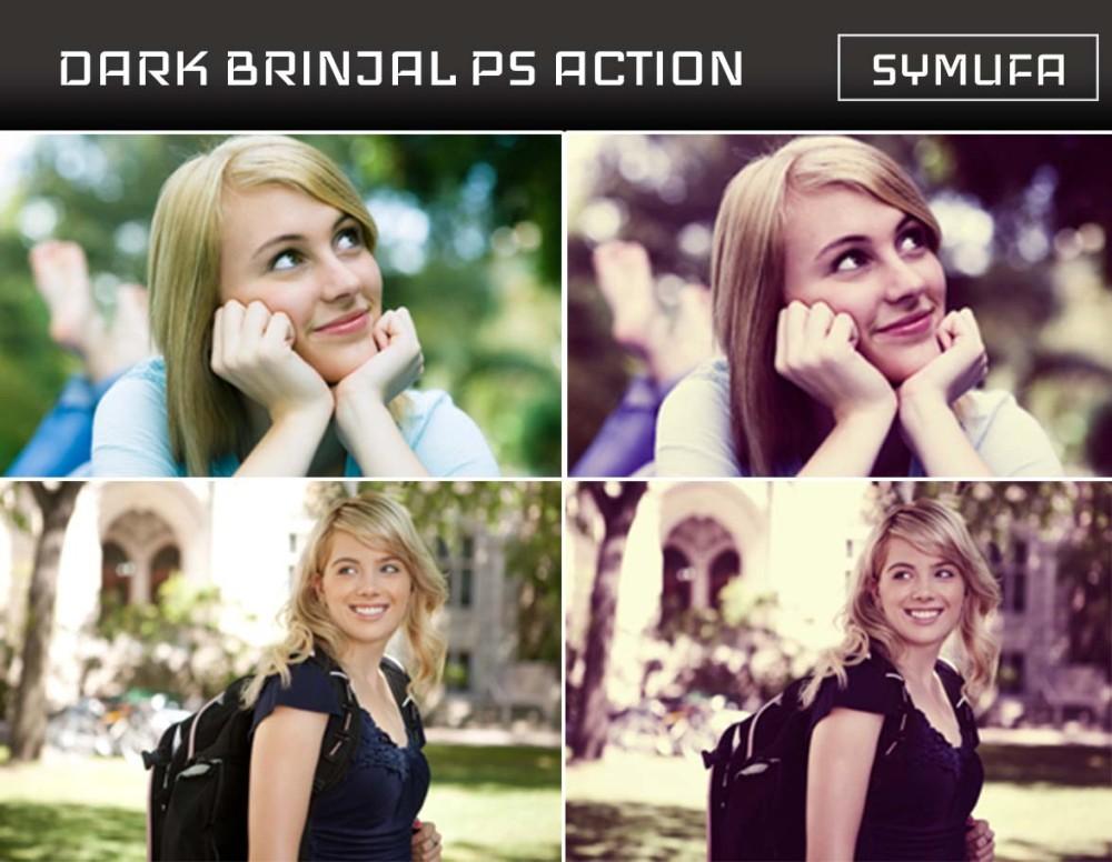 DARK BRINJAL PHOTOSHOP ACTION 0031