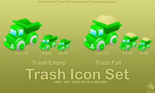 Trash Icons set by Kavel-WB