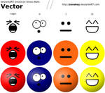 dA Emoticon Stress Ball Vector by zavaboy