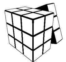 Animated Blank Rubik's Cube by zavaboy