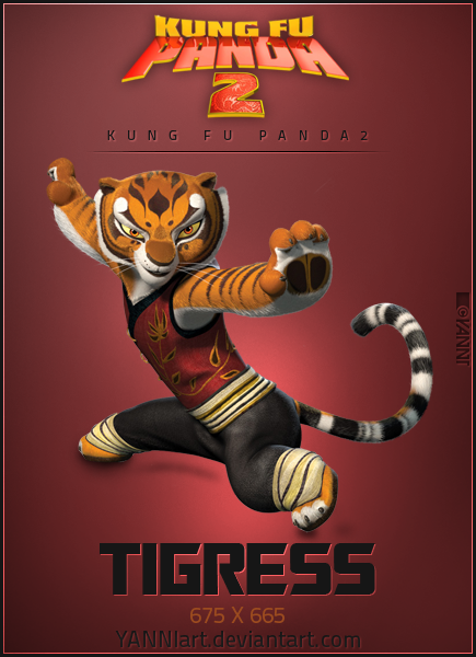 Kung Fu Panda Icon Tigress By Yanniart On Deviantart