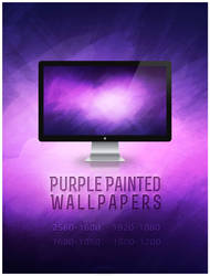 Purple Painted Wallpapers by YANNIArt