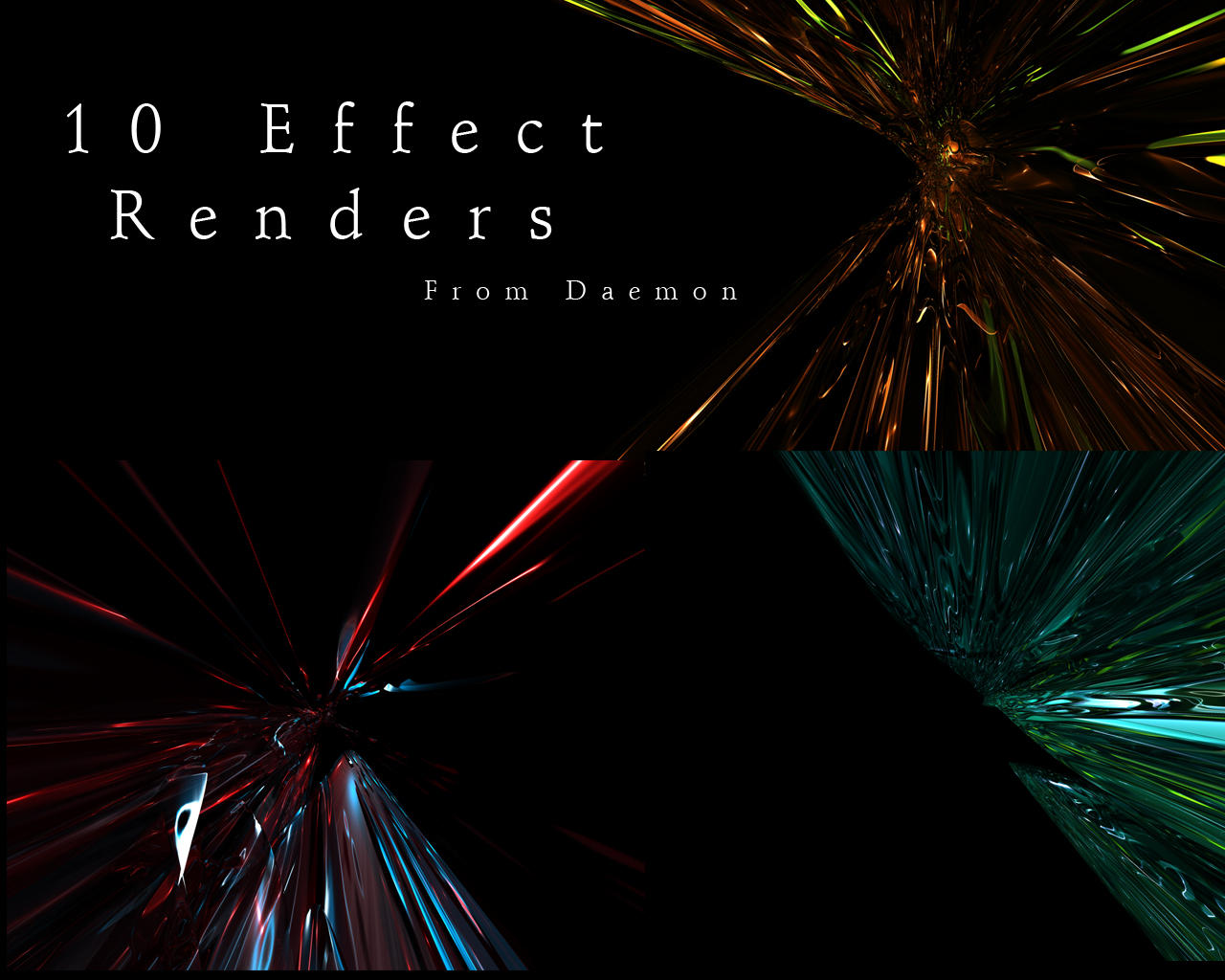10 c4d effect renders by DaemonGFXvoid