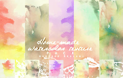 Home-made Watercolor Texture Pack