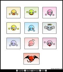 Basic Emoticons 000 by betong