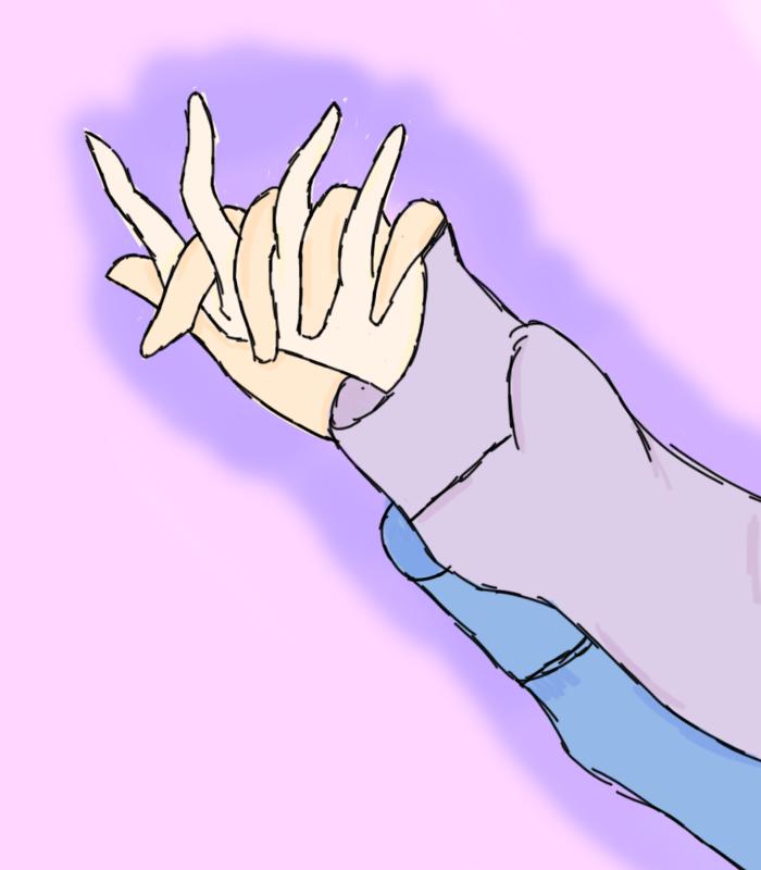 Holding hands by Butterknive