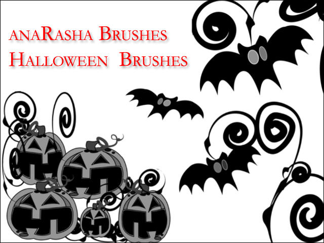 halloween  Brushes by anaRasha-stock