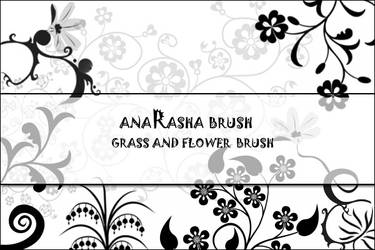 Grass and flower Brush