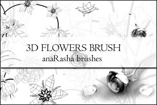 3D FLOWERS BRUSH