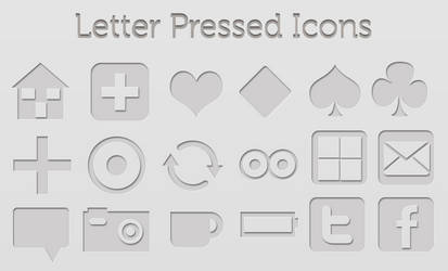 Letter Pressed Icons by gabriela2400