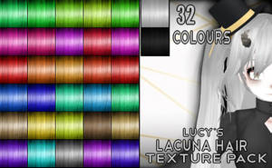 {Free Download} Lucy's Lacuna Hair Texture Pack by LibertineMMD