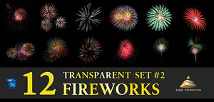 12 Transparent Fireworks Set 2