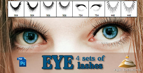 4 Sets of Eyelashes brush by HJR-Designs