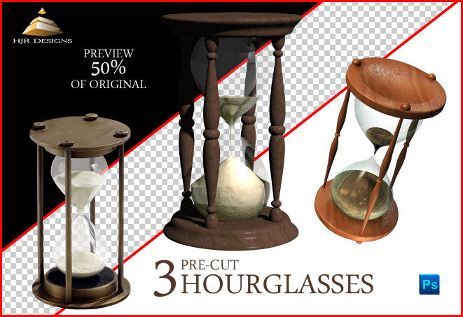 3 Old Hourglasses by HJR-Designs