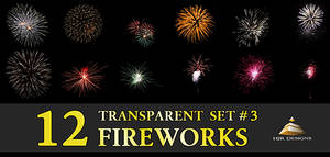 12 Transparent Fireworks Set 3