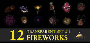 12 Transparent Fireworks Set 4