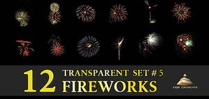 12 Transparent Fireworks Set 5 by HJR-Designs