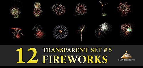 12 Transparent Fireworks Set 5