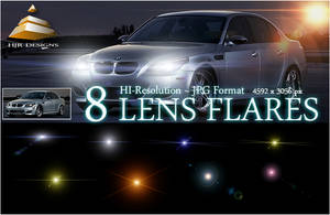 8 Hi-Res Lens Flares