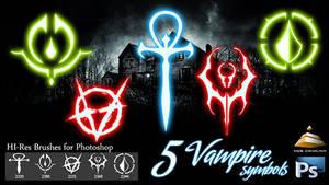 5 HI-Res Vampire Symbols (Brushes)