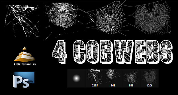 4 Cobweb Brushes set #1