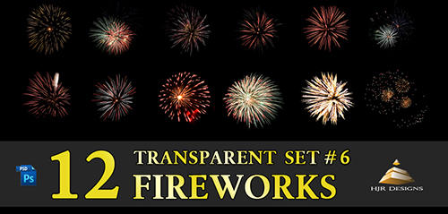 12 Transparent Fireworks Set 6