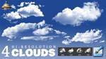 4 Hi-Res Clouds Brushes