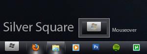 Silver Square 7 Orb Mini