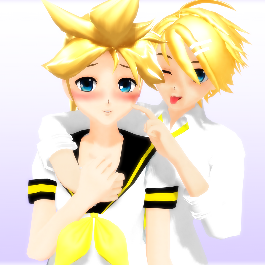 Genderbent Kagamine Twins -DL- by MMDbeginner