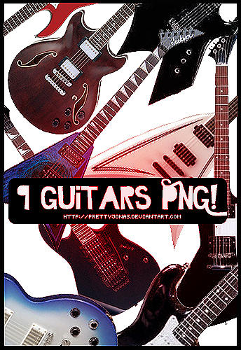 .9 Guitars PNG. by PrettyJonas