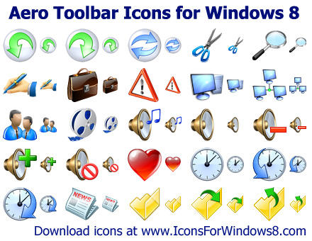 Windows 8 Toolbar Icons by Ikont