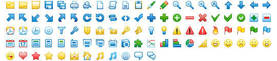 16x16 Free Toolbar Icons by Ikont