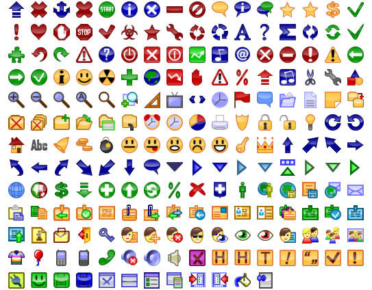 24x24 Free Button Icons by Ikont