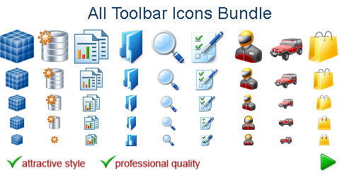 All Toolbar Icons by Ikont