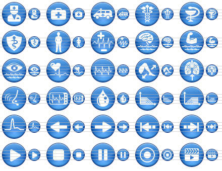Blue Medical Icons by Ikont