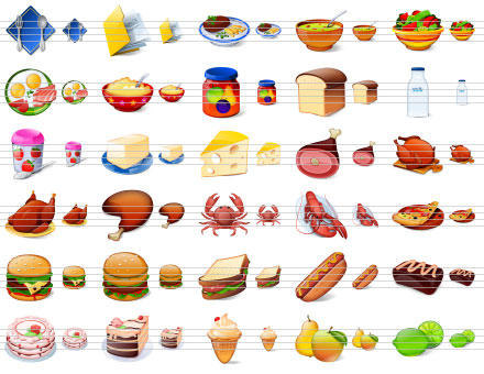 Desktop Buffet Icons by Ikont