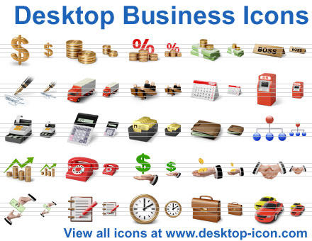 Desktop Business Icons by Ikont