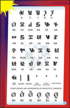 Visayas Script Old English Style