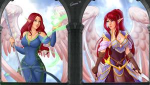 Wallpaper Engine - Aeryen and Galerial by Sienna by Anfareth