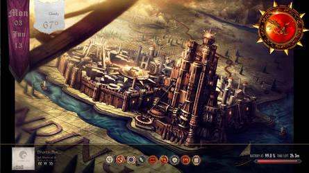 Baratheon Gear Clock by nurny12