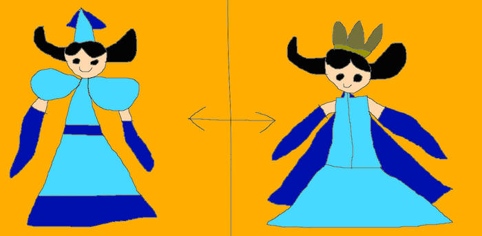 Princess Aqua's Outfit Side By Side