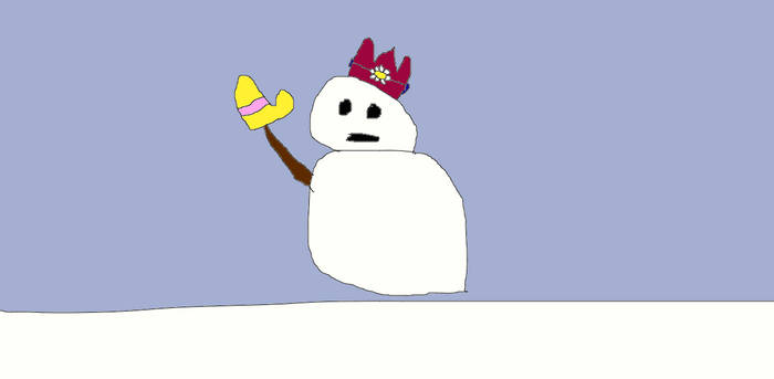 mr. blizzard is wearing princess daisy's old crown