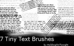 Tiny Text Brushes