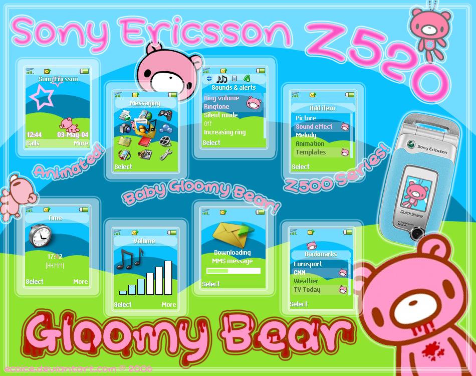 GLOOMY BEAR for SE Z520 by ecoice