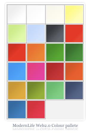 ModernLife Web2.0 pallete by PixelCrunch