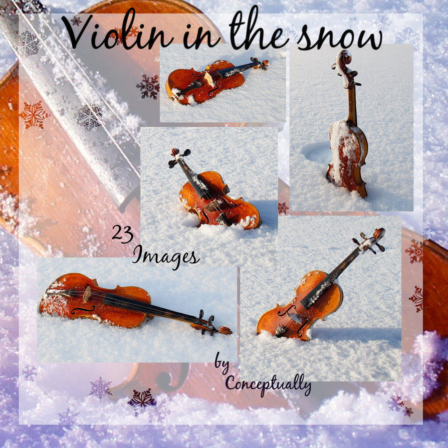 Violin in the snow STOCK pack     (updated) by conceptually