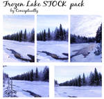 frozen lake STOCK pack
